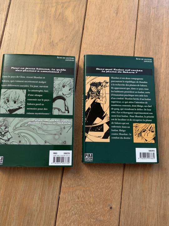 Image article Tsubasa : réservoir chronicle, tome 1 et 2
