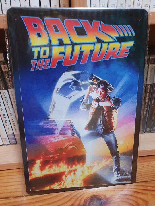 Image article Plaque en Métal Retour vers le future