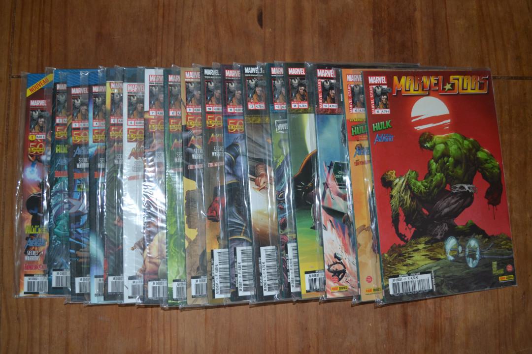 "Image article Lot ""Marvel Stars"" 1 à 17."