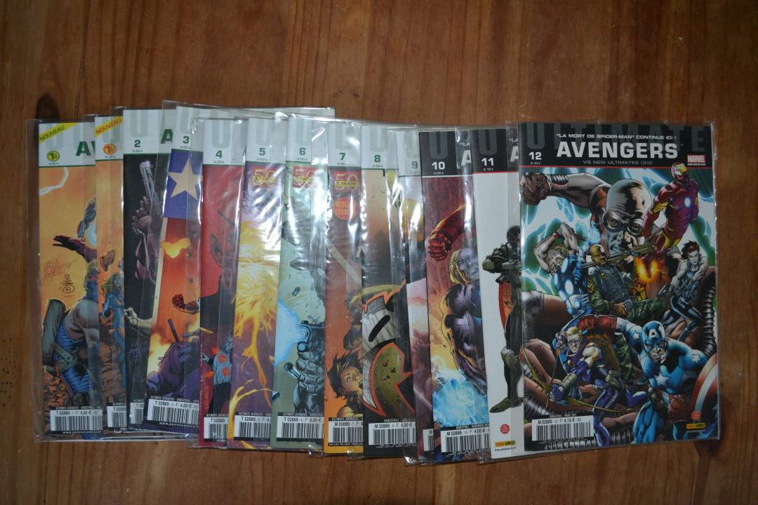 "Image article Lot Comics ""Ultimate Avengers"" 1 à 12 (13 vol.)"