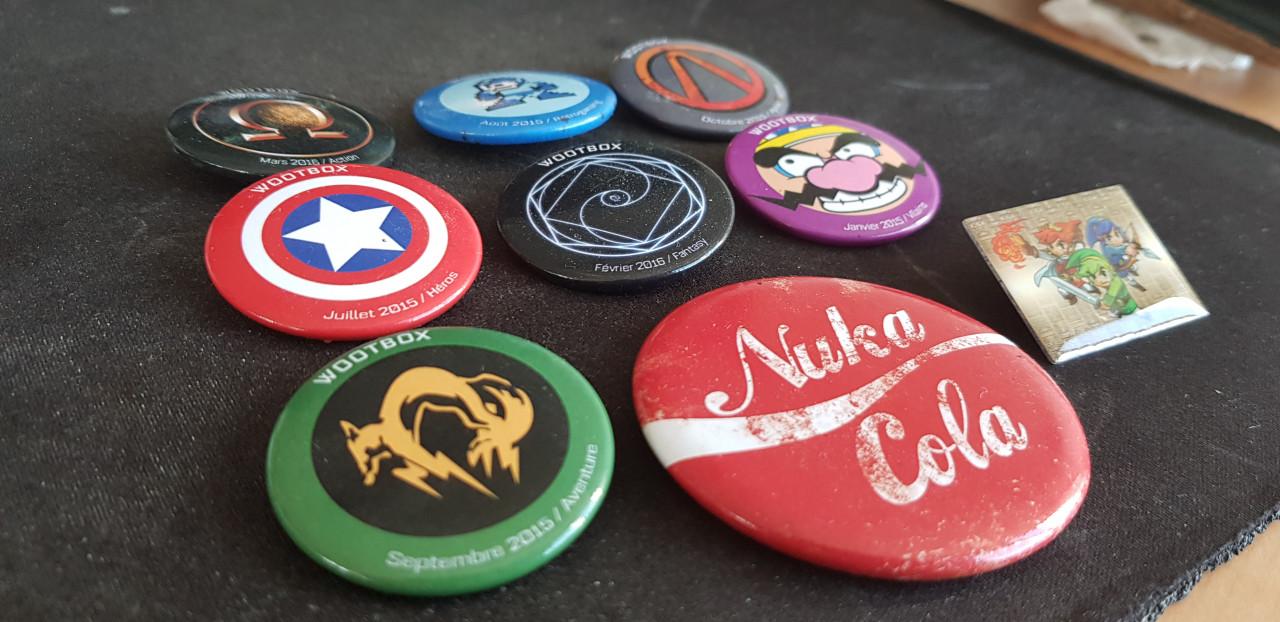 Image article Lot badges geek wootbox