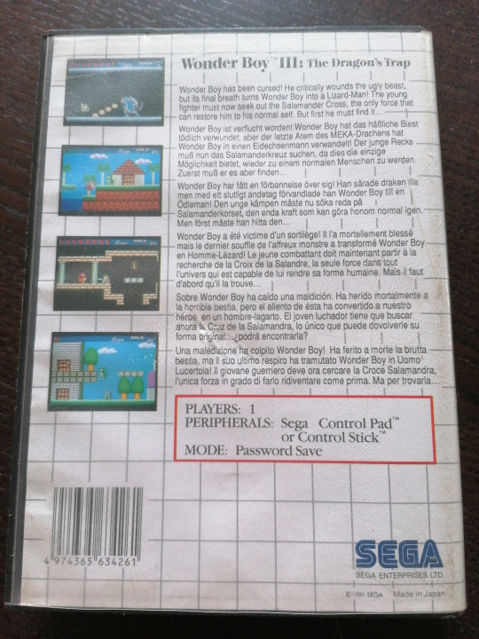 Image article Wonder boy 3 the dragon's trap master system