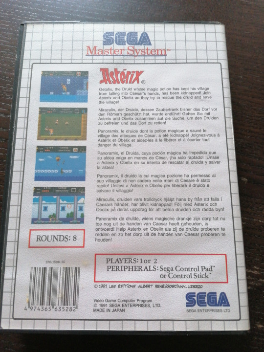 Image article Asterix master system