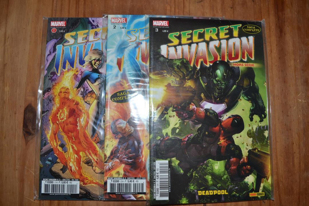 """Image article Lot comics """"Secret Invasion"""" 1à8+ 3HS neufs"""