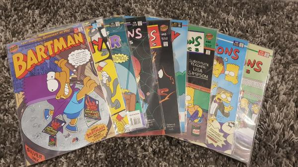 Image article Lot de 9 comics simpsons 1997