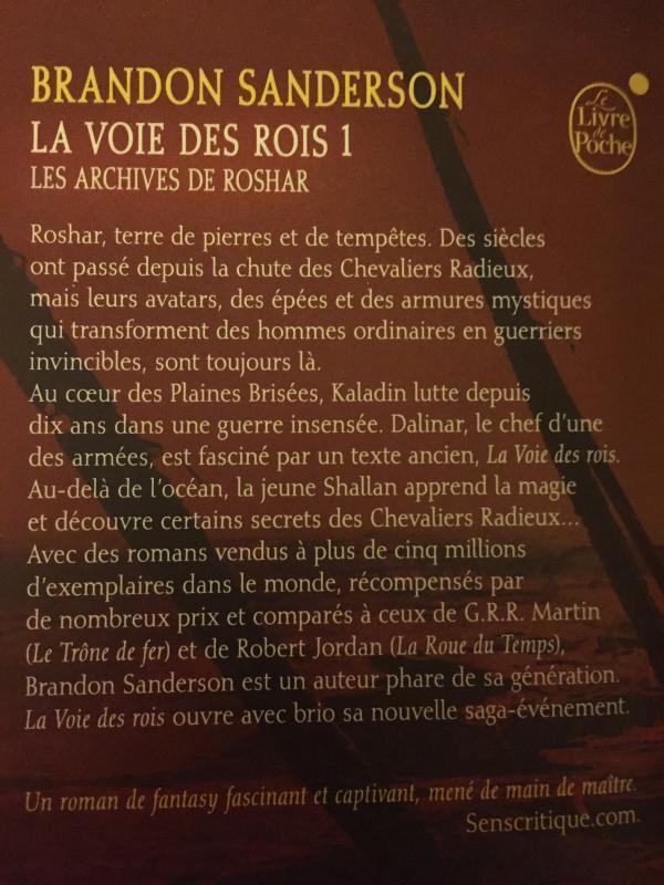 Image article La voie des rois 1- les archives de Roshar- Brandon Sanderson