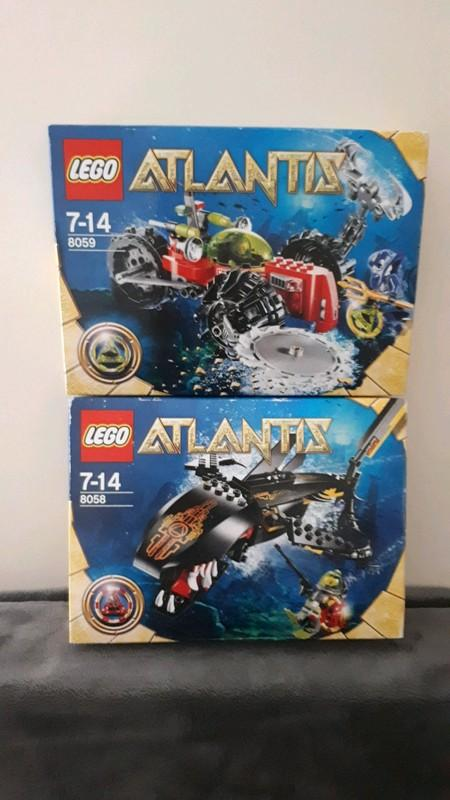 Image article lot de 2 boîte lego atlantis neuf