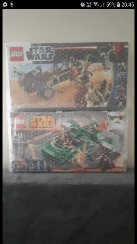 Image article lot de 2 boites lego star wars complet