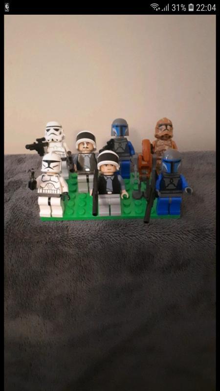 Image article lot de 8 mini figurine lego star wars