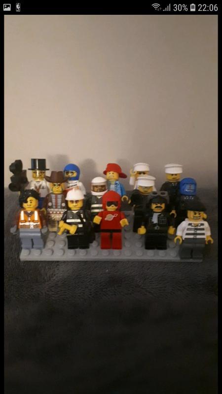 Image article lot de 14 mini figurine lego divers