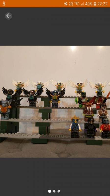 Image article lot de 22 minifigs lego chima