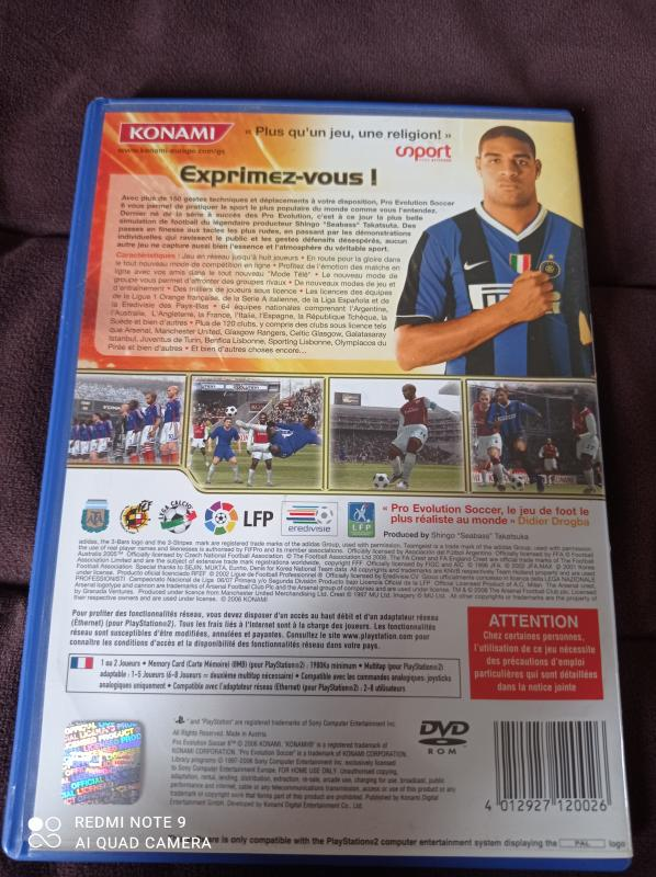 Image article Sony - Playstation 2 - Pro evolution soccer 6