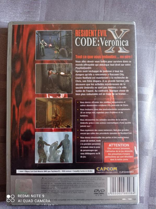 Image article Sony - Playstation 2 - Resident evil code Veronica X