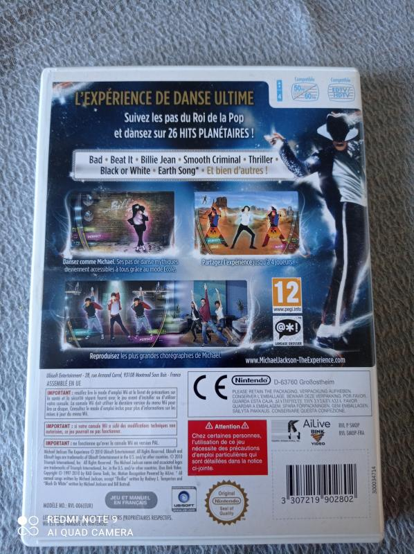 Image article Nintendo - Wii - Michael Jackson the experience