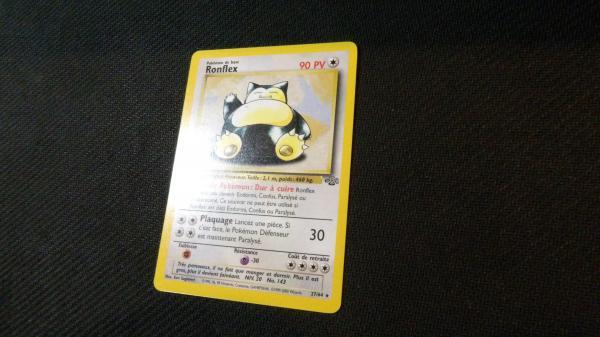 Image article Carte pokémon Ronflex rare 27/64 série Jungle wizards.