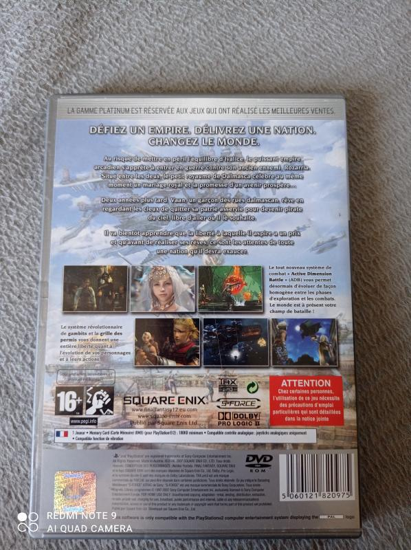 Image article Sony - Playstation 2 - Final fantasy XII