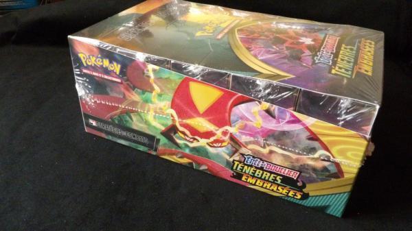Image article Display Pokémon d'avant première PR, Pré-release, Ténébres Embrasées, neuve et sceller, 10 Kits.