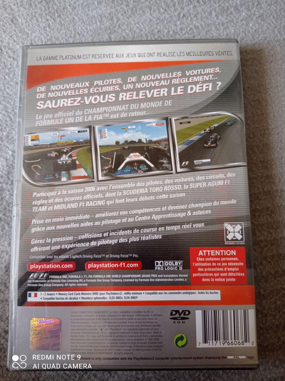 Image article Sony - Playstation 2 - Formula one 06