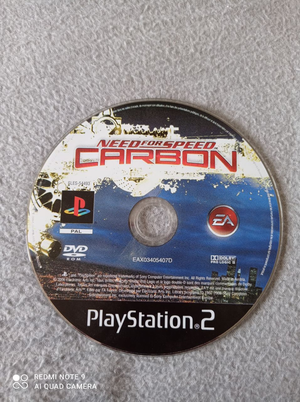 Image article Sony - Playstation 2 - Need for speed - Carbon