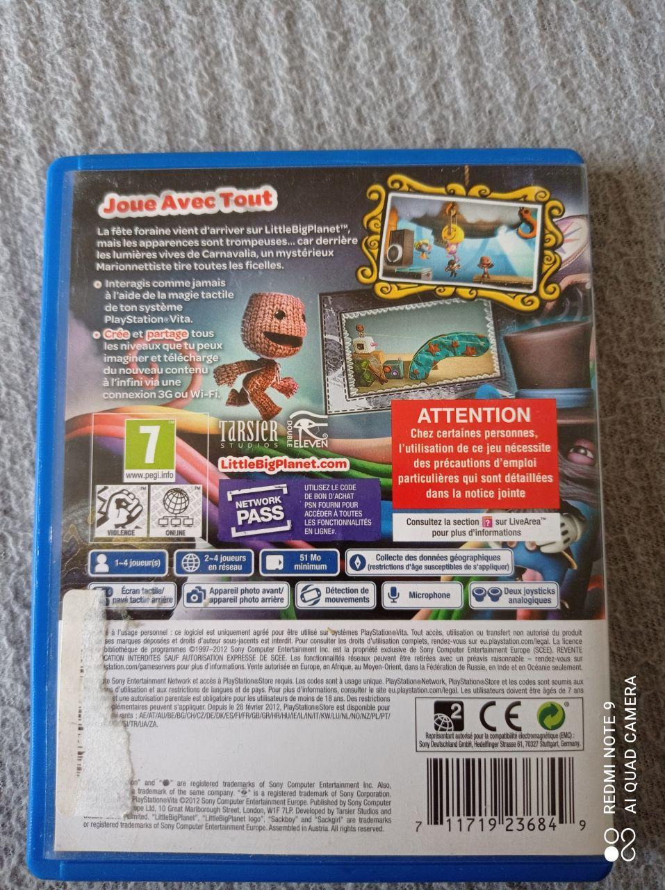 Image article Sony - PS Vita - LittleBigPlanet