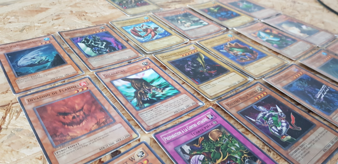 Image article Lot 19 cartes Yu-gi-ho 1er génération