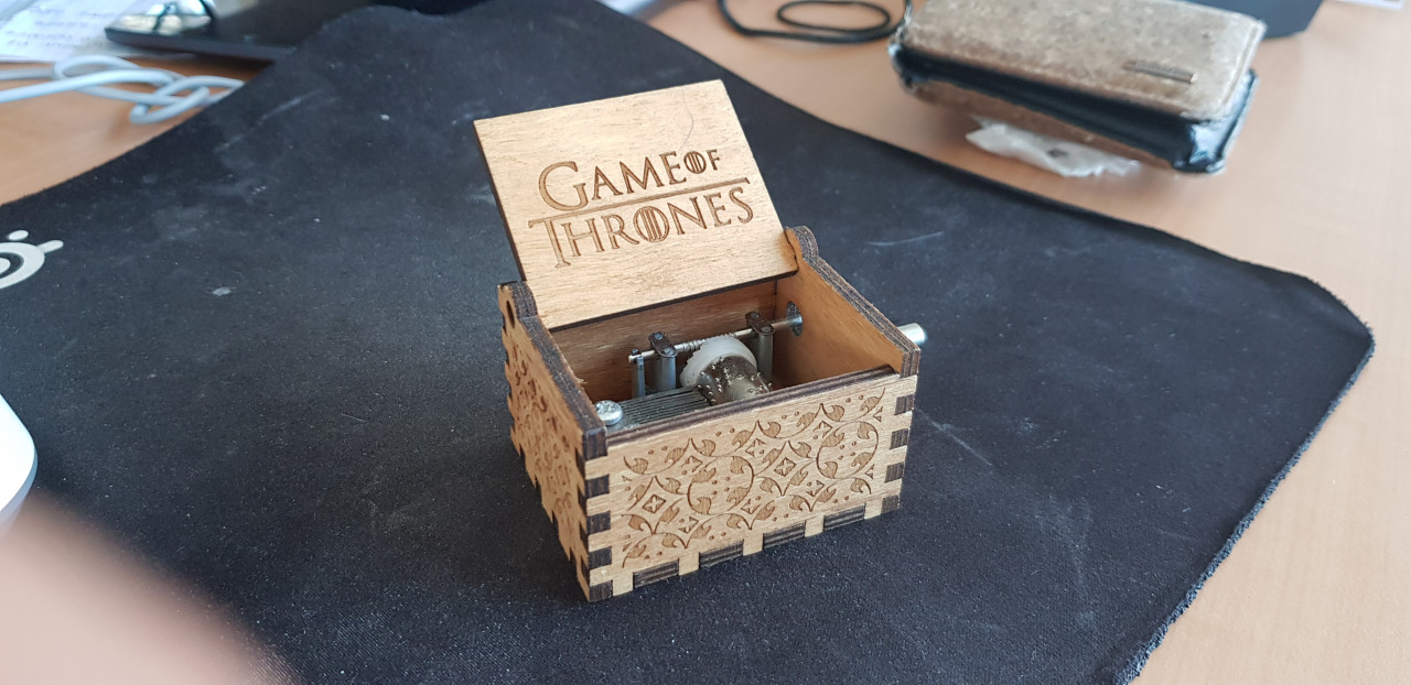 Image article Boite à music Games of thrones