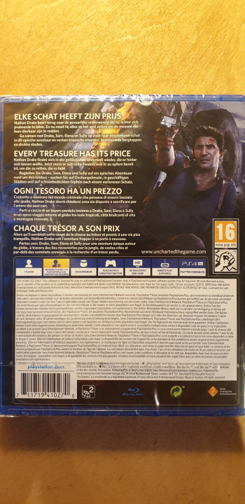 Image article Uncharted 4 PS4 neuf