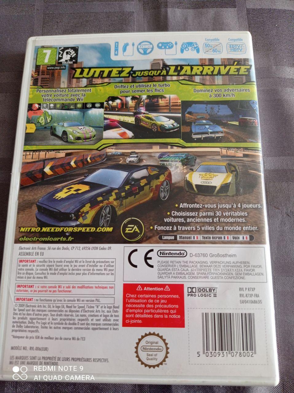 Image article Nintendo - Wii - Need for speed Nitro