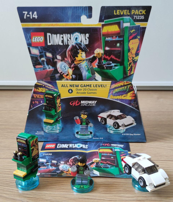 Image article Lego Dimensions Level Paquet 71235 Midway Arcade Machine Rétro Joueur Kid
