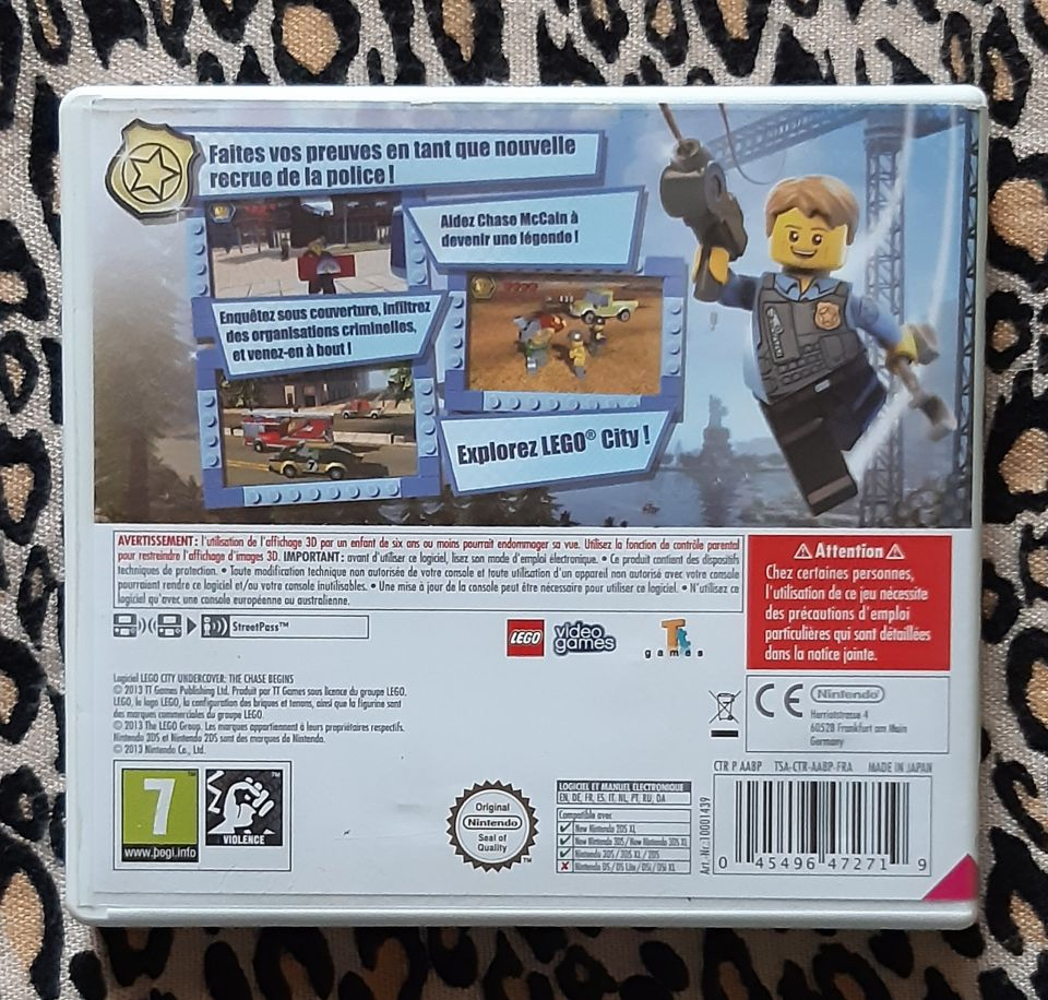 Image article JEU NINTENDO 3DS LEGO CITY UNDER - THE CHASE BEGINS COVER