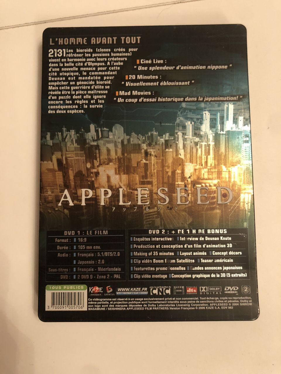 Image article Applessed Steelbook blu-ray