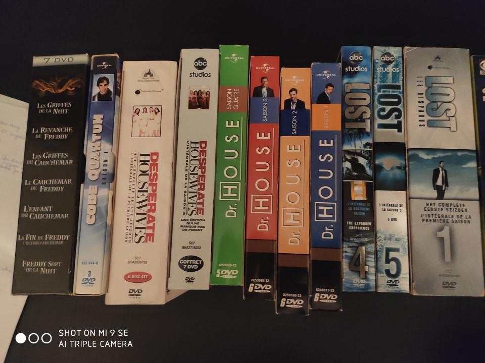 Image article Lot de DVD Séries.