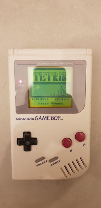 Image article Gameboy gris + Tertris