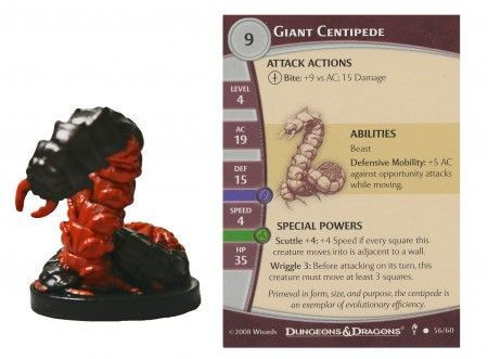 Image article Giant Centipede #56 Dungeons of Dread
